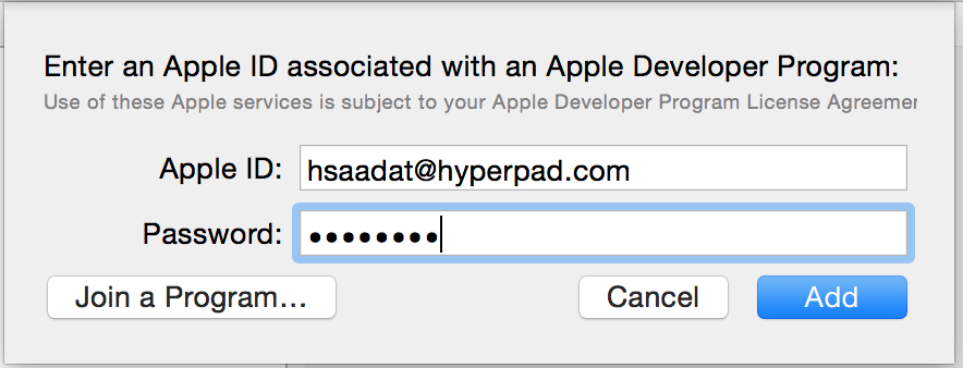 Create a Distribution Provisioning Profile – hyperPad