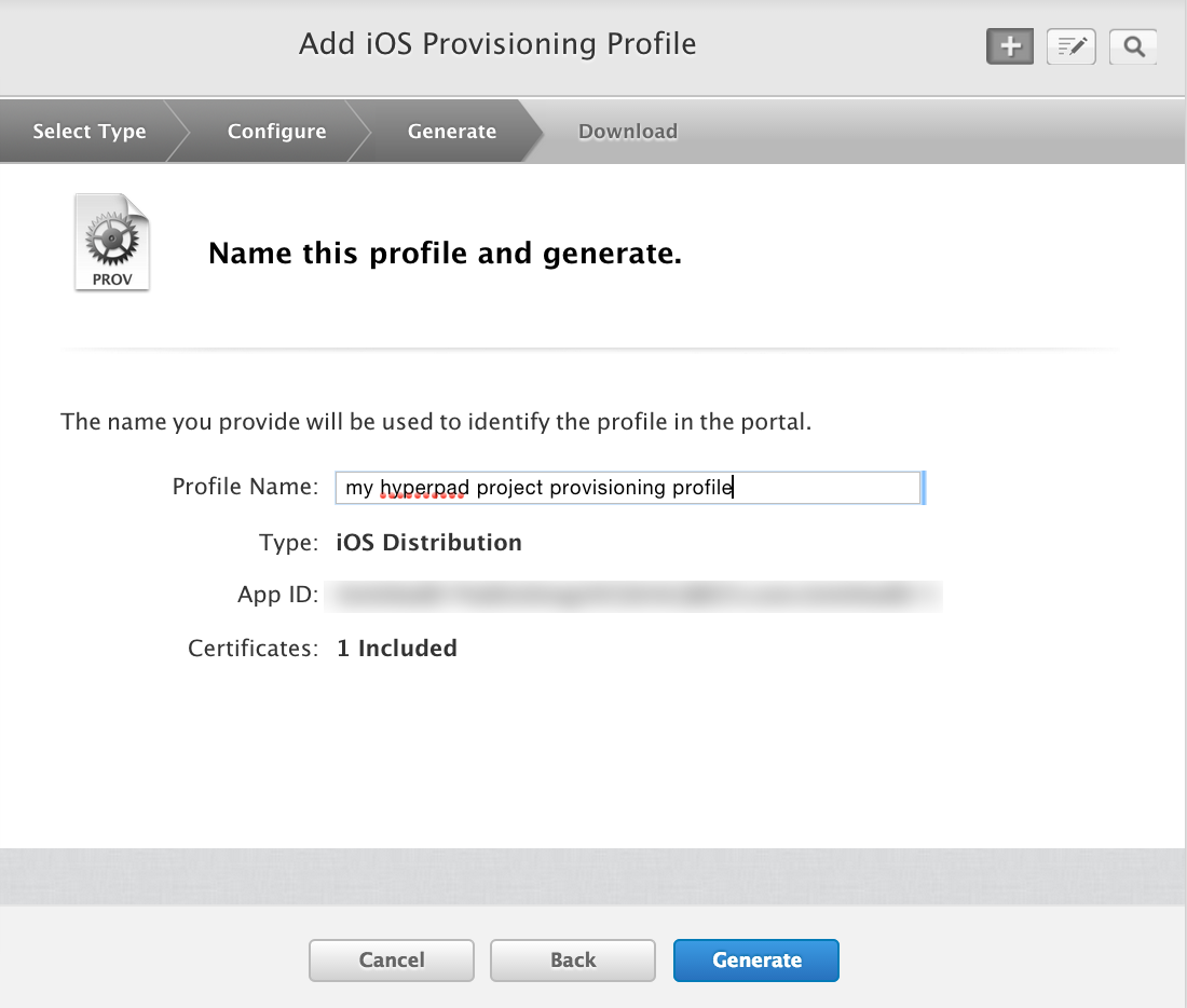 Create A Distribution Provisioning Profile Hyperpad